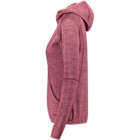 Meru Megara Stretch Fleece Hoodie Women beaujolais